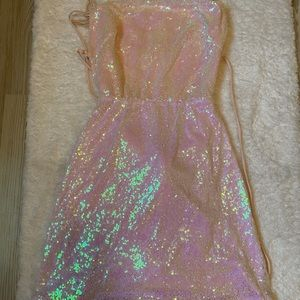 Iridescent party dress